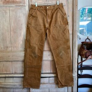 Carhartt Tan Canvas Original Fit Work Pants